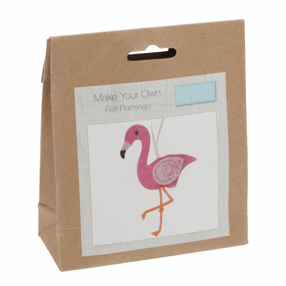 Felt Sewing Kit - Flamingo