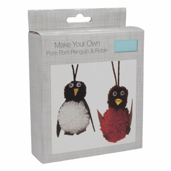 Pom Pom Christmas Kit - Robin & Penguin