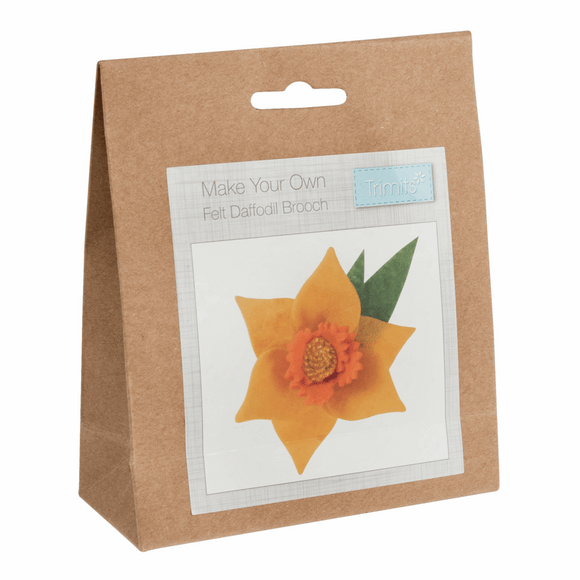 Felt Decoration Kit - Daffodil Brooch