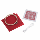 Cross Stitch Kit with Hoop (Counted) - Nordic Red