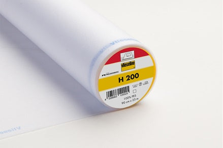 H200 Medium Weight Iron-On Nonwoven Interfacing White 90cm wide
