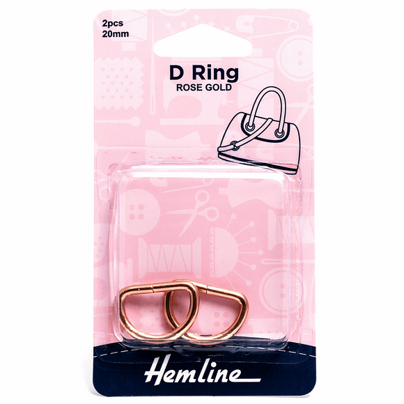 D Rings 20mm Rose Gold - 2 pieces