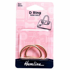 D Rings 32mm Rose Gold - 2 pieces