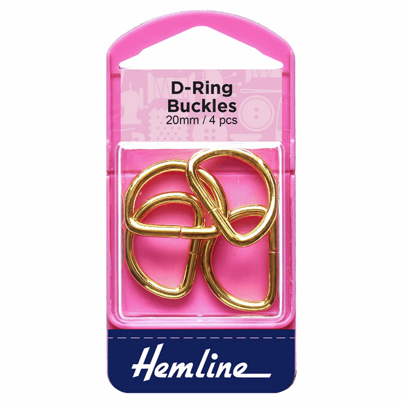 D Rings 20mm Gold - 4 pieces
