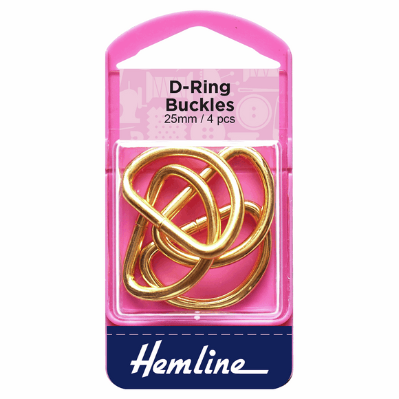 D Rings 25mm Gold - 4 pieces
