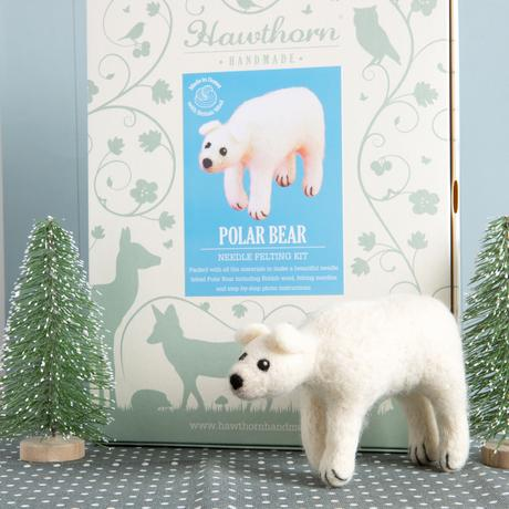 Hawthorn Handmade Needle Felting Kit - Polar Bear