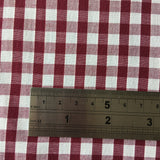 "Gingham 1/4"" Wine Red 100% Cotton"