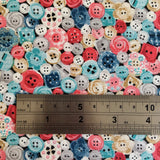 Stitch in Time Buttons Pink by Makower