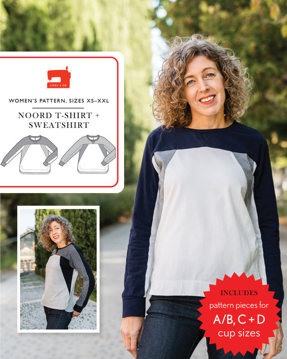 Noord T-Shirt & Sweatshirt Pattern by Liesl & Co