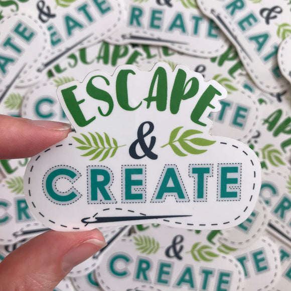 Escape & Create Vinyl Sticker