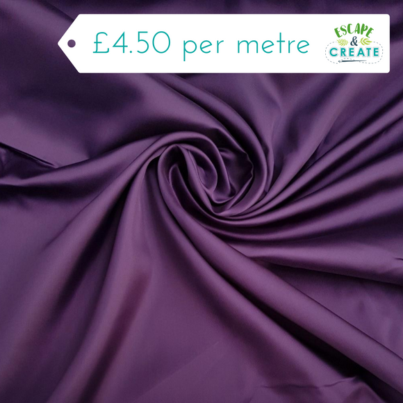 Dress Lining 100% Viscose in Purple