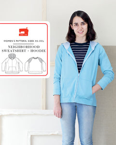 Neighbourhood Sweatshirt & Hoodie Pattern by Liesl & Co
