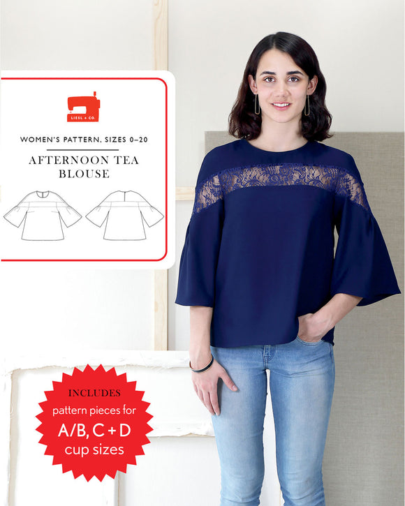 Liesl & Co Afternoon Tea Blouse Pattern