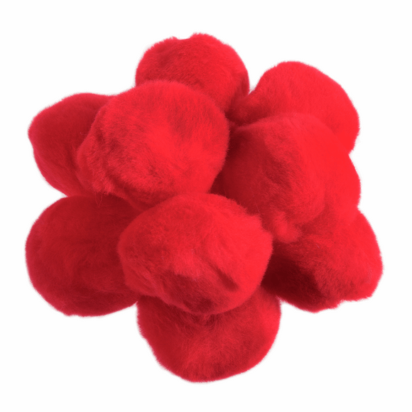 Pom Poms Large 50mm in Red