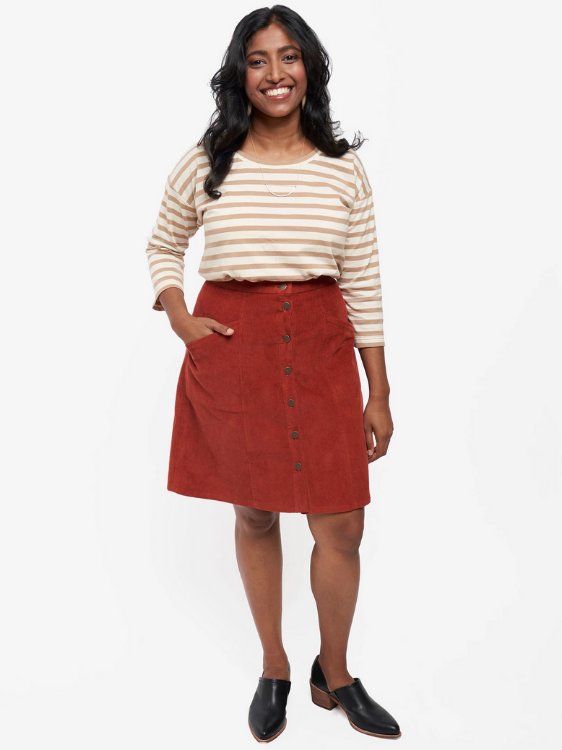 Reed Skirt by Grainline Studio (Size US 0-18)