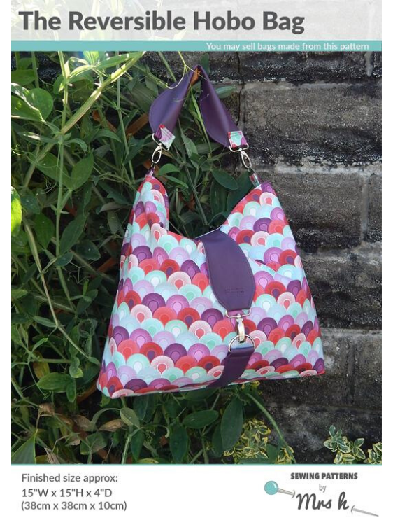 Hobo Reversible Bag Pattern by Mrs H
