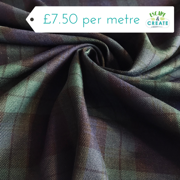 Tartan PolyViscose (35% Viscose) Blackwatch