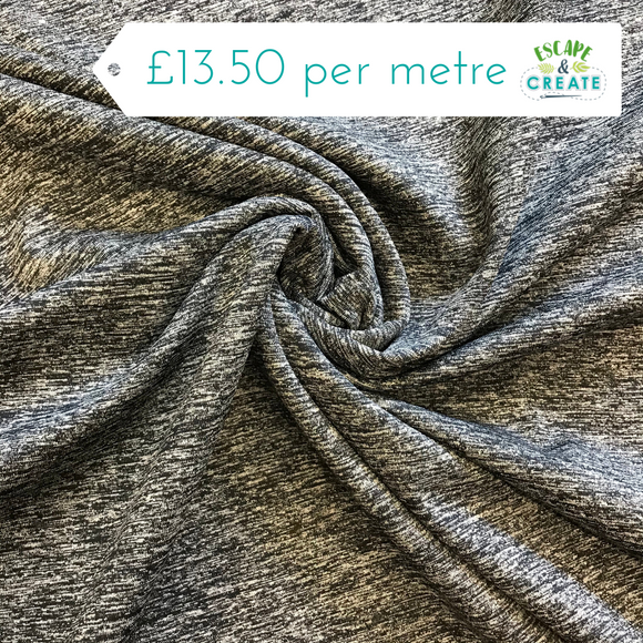 Activewear Sporty Melange in Grey Fleck (10% Spandex)