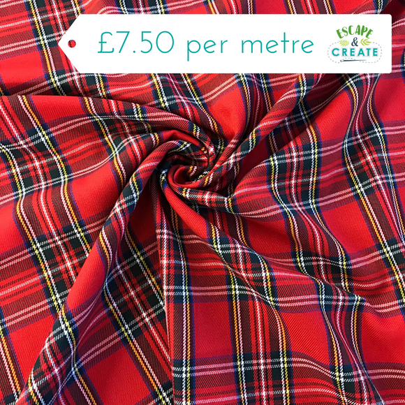 Tartan PolyViscose (35% Viscose) Royal Stewart Small