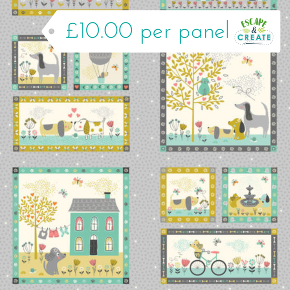 A Walk in The Park Panel 100% Cotton by Makower