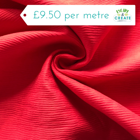 Textured Red Viscose Blend