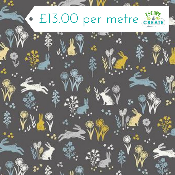 Grove by Makower Rabbits on Grey