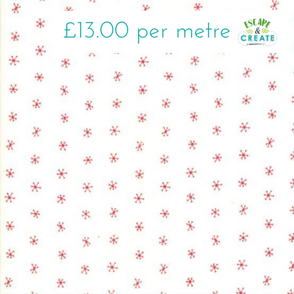 Now £10.40 p/m Moda Merriment Berry Snowflakes
