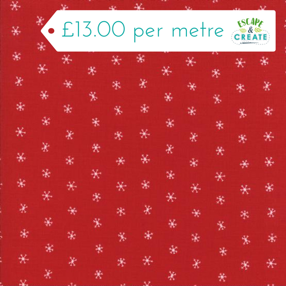 Now £10.40 p/m Moda Merriment Snowflakes on Berry