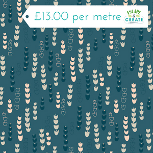 Dashwood Blue Flower - Jardin Anglais 100% Cotton