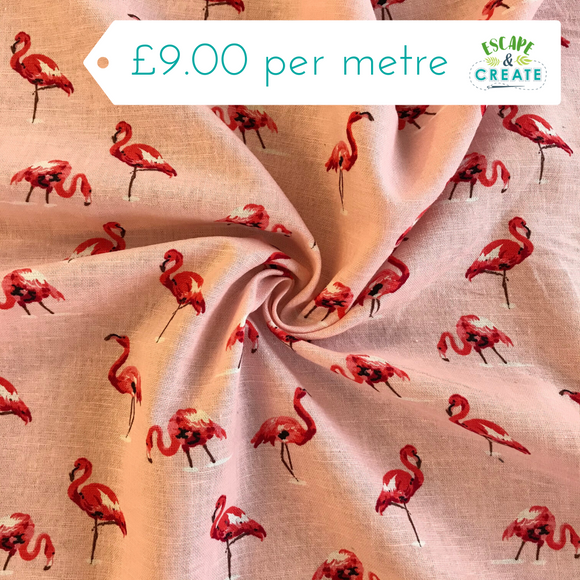 Flamingo Linen Mix 55% Linen, 45% Viscose