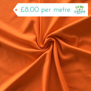 Jersey Plain in Orange (Viscose)
