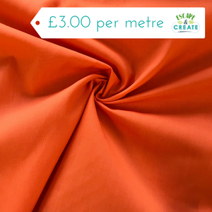 Plain polycotton in Orange