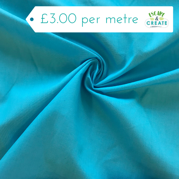 Plain polycotton in Turquoise