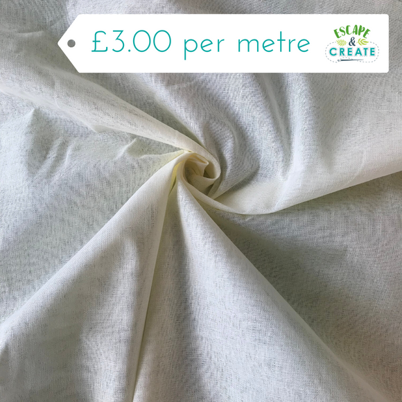 Muslin in Cream (100% Cotton)