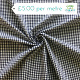 "Gingham 1/8"" 100% Cotton In Navy (110cm wide)"