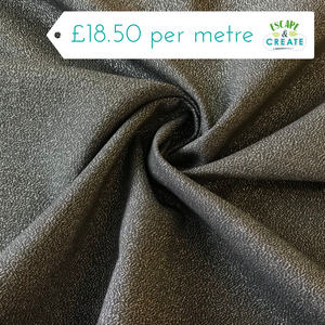 Cloud 9 Glimmer Solids Broadcloth in Graphite Black (Organic)