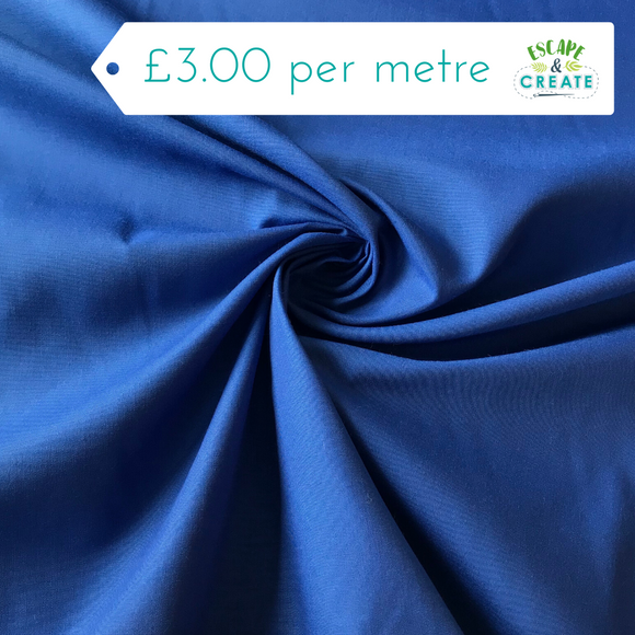Plain Polycotton in Royal Blue
