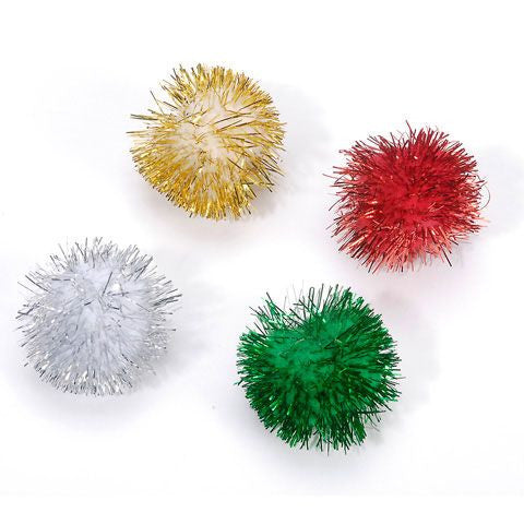 Pom Poms 25mm Christmas (24 pack)
