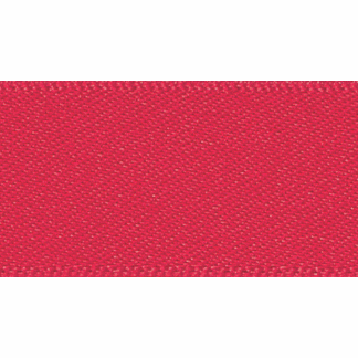 Double faced Satin Ribbon 10mm Col 21 Poppy Red