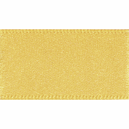 Double Faced Satin Ribbon 25mm Col 37 Gold