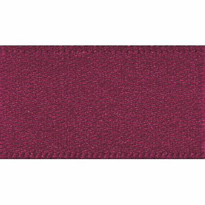 Double faced Satin Ribbon 10mm Col 405 Burgundy