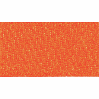 Double Faced Satin Ribbon 35mm Col 42 Orange Delight