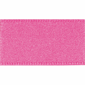 Ribbon Double Faced Satin 15mm Col 52 Hot Pink