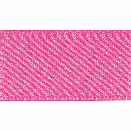 Ribbon Double Faced Satin 3mm Col 52 Hot pink