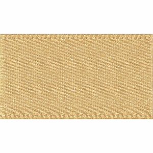 Ribbon Double Faced Satin 10mm Col 678 Honey Gold