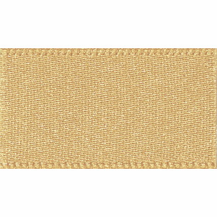 Double faced Satin Ribbon 10mm Col 678 Honey Gold
