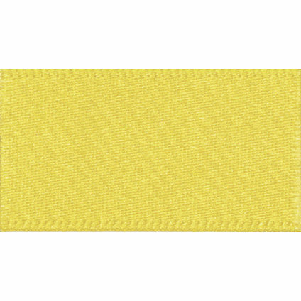 Ribbon Double Faced Satin 15mm Col 679 Yellow