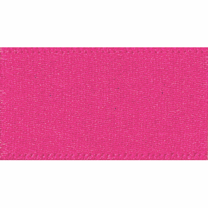 Ribbon Double Faced Satin 3mm Col 72 Shocking Pink