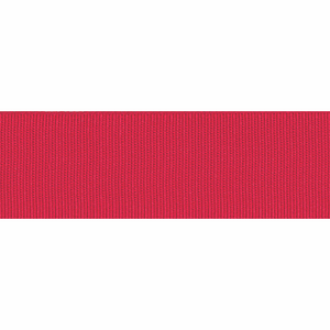 Ribbon Grosgrain 25mm Plain Col 250 Red