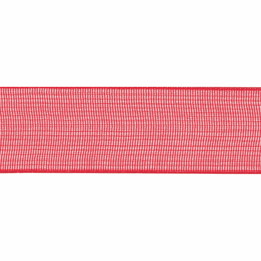 Ribbon Super Sheer 25mm Red